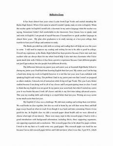 Higher english reflective essay help Higher English