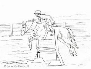Draw a Horse Show Jumping in Colored Pencil | Colored ...