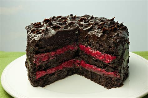 paleo chocolate cake  raspberry filling janes