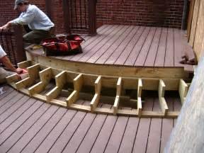Build Steps For Deck by Composite Deck Building Composite Deck Stairs