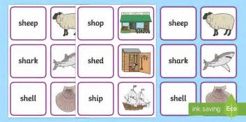 Phoneme Games Sh Sound Primary Resources