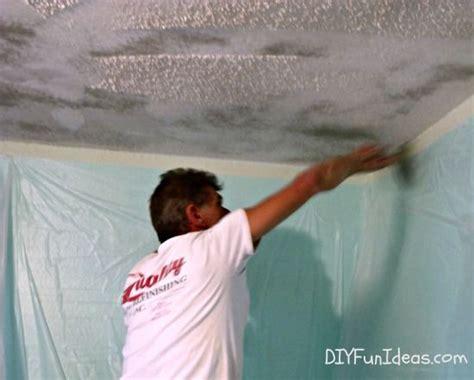 remove popcorn ceilings   minutes remove