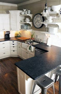 kitchen countertops design open shelving with generous frame size for tight 1019