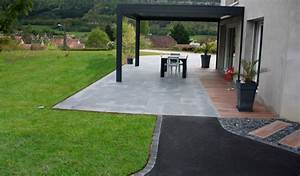 Dalles Beton Terrasse : am nagement de terrasse cuinet am nagement ext rieur ~ Melissatoandfro.com Idées de Décoration