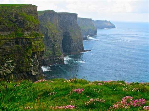 Galway Bay And The Romantic Cliffs Of Moher Summer Setting