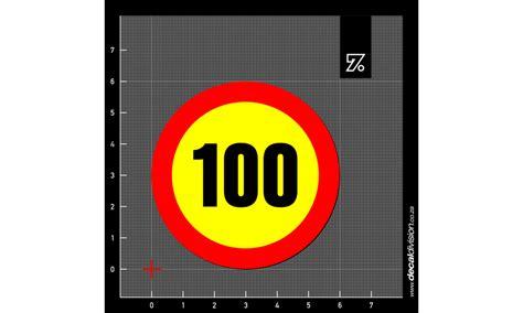 Speed Limit Sticker