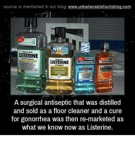 listerine started as floor cleaner source is mentioned in our