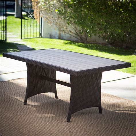 Patio Table by Belham Living Monticello All Weather Wicker Rectangular