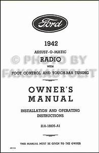 1942 Ford Radio Reprint Owner U0026 39 S Manual With Installation
