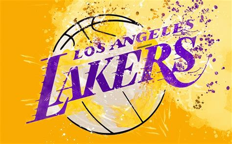 Download wallpapers Los Angeles Lakers, 4k, grunge art ...