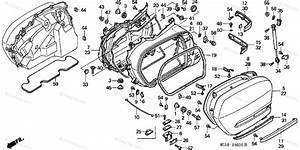 Honda Motorcycle 2003 Oem Parts Diagram For Saddlebag