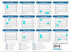 Calendario del 2018 mundonets