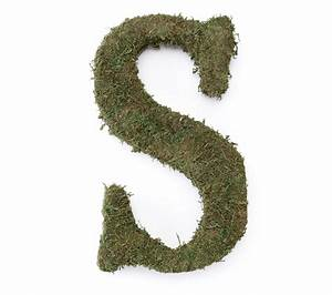 large 15 moss monogram letter s With large moss letters