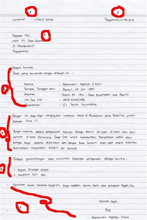 Contoh Surat Sakit Tulisan Tangan by Cara Membuat Surat Lamaran Kerja Dan Contohnya Tulis