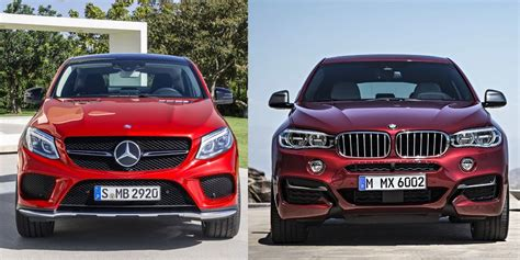 Contrast differences in design and data such as price, power, and performance. Comparativa visual entre el Mercedes-Benz GLE Coupé y el ...