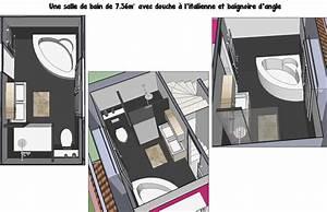 Baignoire Douche Italienne : une salle de bain de 7m avec douche l 39 italienne et baignoire d 39 angle la salle de bain en ~ Melissatoandfro.com Idées de Décoration
