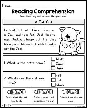 free reading comprehension practice passages by kaitlynn