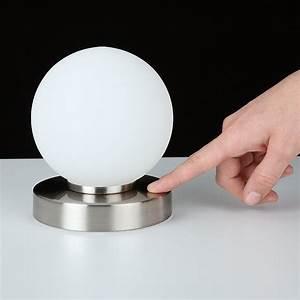 Tischleuchte Silber Modern : tischleuchte tischlampe lampe touchdimmer kugelform leuchte dimmer modern neu ebay ~ Indierocktalk.com Haus und Dekorationen
