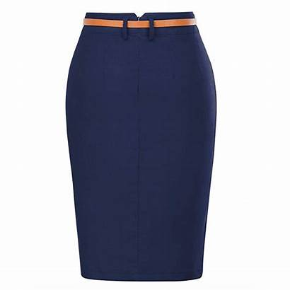 Pencil Skirt Belt Solid Bodycon Hip Wrapped