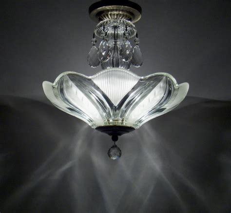 vintage semi flush mount ceiling light fixture deco