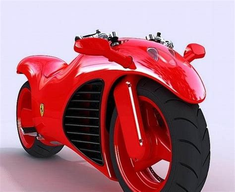 Motorcycle Of Ferrari