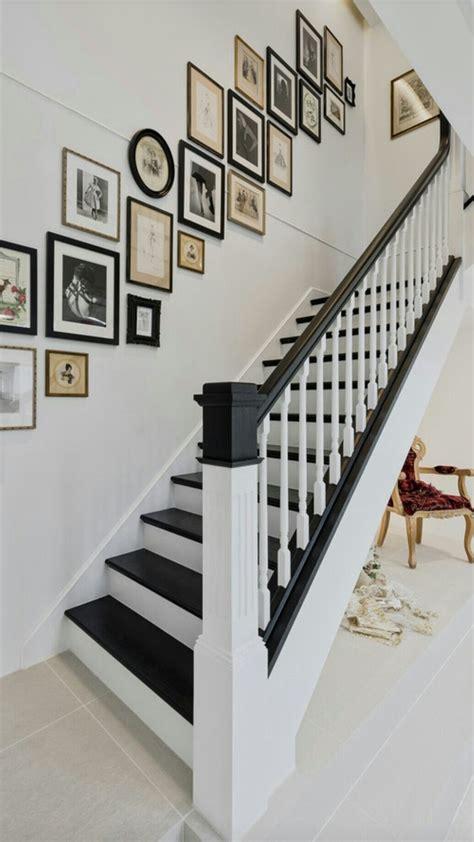 escalier peint blanc noir escalier peint deco cage