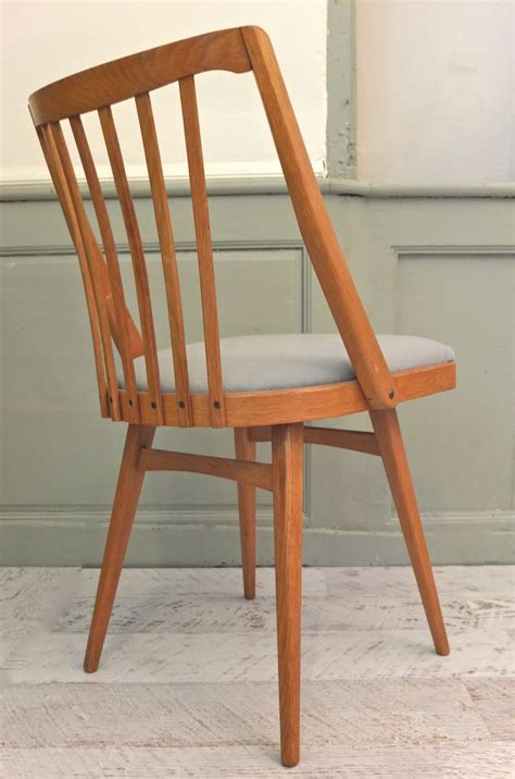 chaise scandinave vintage slavia vintage mobilier vintage lot de 4 chaises de