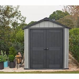 Abri de jardin brossium en resine 510 m2 plancher keter for Abri de jardin keter