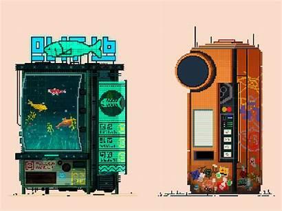 Vending Machine Pixel Cyberpunk Machines Bit Google