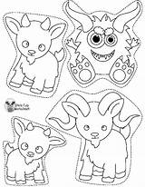 Gruff Goats Billy Worksheets Puppets Printables Stick Cut Activities Dixie Popsicle Cup Kindergarten Prek sketch template