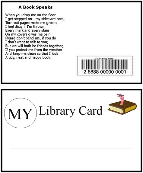 library card cliparts   clip art