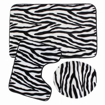 Toilet Zebra Leopard Bathroom Rug Seat Mat