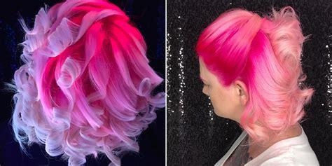 neon pink hair    jellyfish  black lights allure