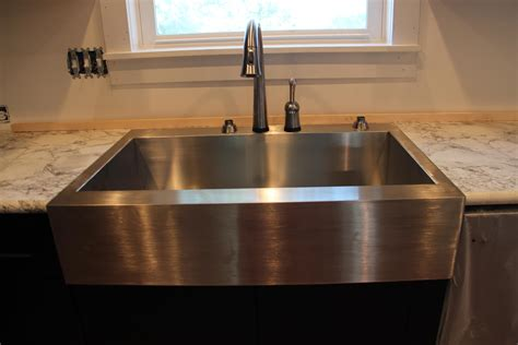 stainless apron front sink dark grey stainless apron front kitchen sink with white