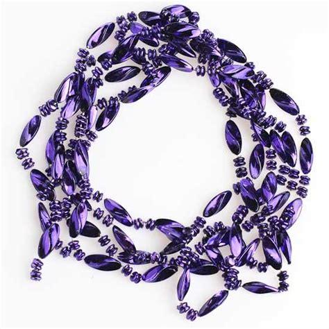 metallic dark purple twist bead garland 9 feet