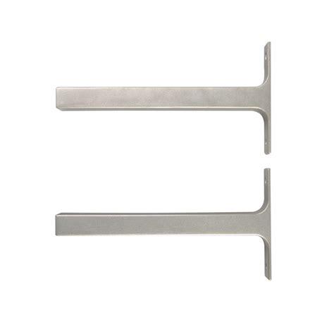 deco shelf brackets everbilt 8 1 in x 1 in platinum bauhaus deco shelf