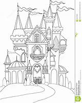 Castle Coloring Fairy Pages Palace Tale Drawings Disney Castles Mitsubishi Drawing Eclipse Printable Illustration Fairytale Famous Pencil Colouring Dreamstime Vector sketch template
