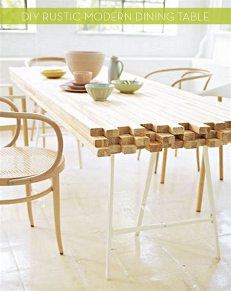 diy rustic dining table diy rustic modern dining table curbly diy design decor