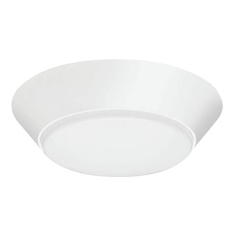 lithonia lighting 7 in white led motion sensor flushmount