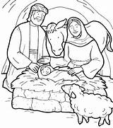 Jesus Coloring Pages Story Birth Bible Born Christmas Colouring Manger Printable Drawing Sheet Nativity Tocolor Getcolorings Sketches Christian Getdrawings Template sketch template