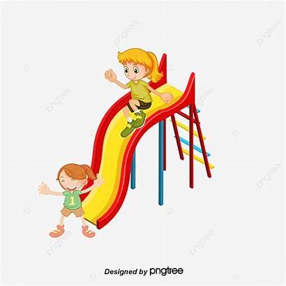 Slide Playing Children Material Park Slides Clipart