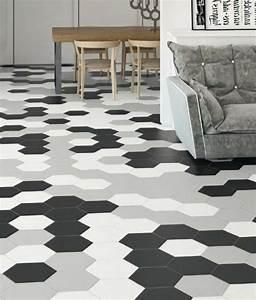 Carrelage Hexagonal Blanc : le carrelage hexagonal une tendance qui fait son grand ~ Premium-room.com Idées de Décoration