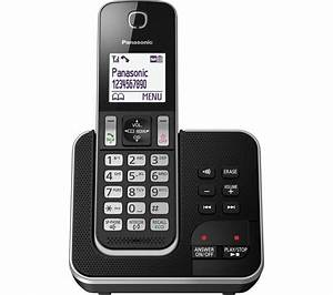 PANASONIC KX-TGD320EB Cordless Phone with Answering ...  Panasonic