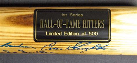 lot detail louisville slugger hall  fame hitters multi