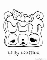 Coloring Waffles Num Noms Willy Pages Template sketch template