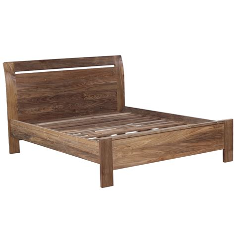 reclaimed wood bed set including bed  bedside tables