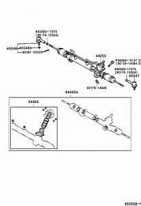 1999 Toyota Camry Steering Tie Rod End  End  Steering Rack