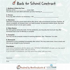 The Back To School Contract