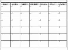 Blank Calendar 2018 Word PDF Printable Templates
