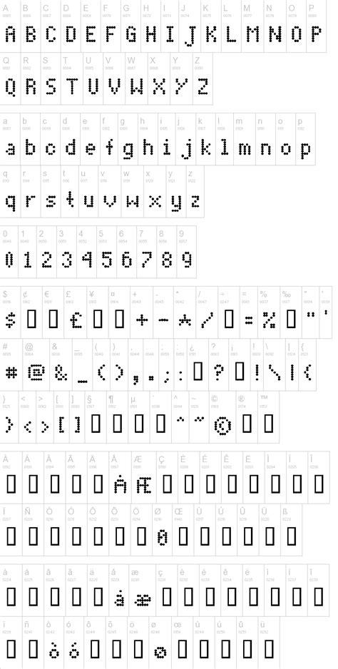dot matrix font dafontcom